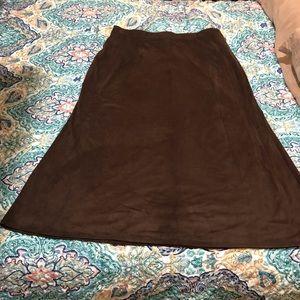 Cato brown soft touch elastic waist skirt